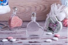 Akcija! Staklena flašica 55 ml u obliku srca sa staklenim čepom – Od 271,53din na 128,01 po komadu (minimalna porudžbina 1 kutija)