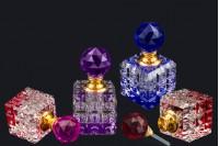 Кристална бочица 8 мл са стакленим поклопцем и игло у 4 боје