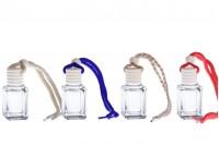 Flašica za aromu – osveživač za auto 4 ml kockasta sa drvenim zatvaračem – pakovanje od 25 komada