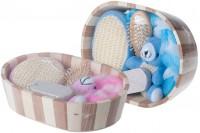 Гарнитуре за поклоне - прибор за купатило у дрвеној корпи