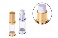 Airless tubica za kreme 5 ml u zlatnoj i srebrnoj boji