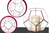 Stakleni ukrasni svećnjak