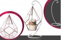 Stakleni ukras za sveće koji se može i okačiti