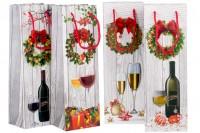 Божићне папирне кесе типа 3-Д са ламинацијом за винске боце