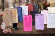 Papirna plastificirana kesa sa ručkicama od tila širine 2cm- 20kom