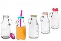 Flašice za sok sa oznakama za zapreminu i rupom na zatvaraču za slamčicu  250 ml