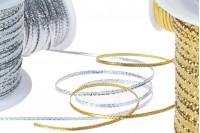 Ukrasni kanap lurex širina 3mm, zlatni/ srebrni (1 komad je 100m)