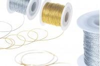 Ukrasni kanap lurex širina 1mm, zlatni/ srebrni (1komad je 100m)