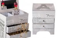 Кутија за накит са огледалом и фиоке са Ајфеловим дизајном