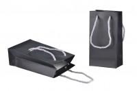 Crna mat ukrasna kesa 110x60x200mm sa srebrnim ručkicama 6mm