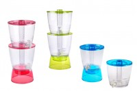 Dve plastične posude spojene u jednoj sa 2 slavine i unutrašnjom pregradom za led u 3 boje – 13 litara