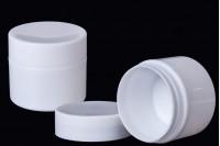 Kutijica plastična 50 ml ,bela, sa duplim dnom za kreme, paket od 12 komada