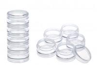 Akrilna kutija za štras za nokte 3 ml u 5 komada  Šifra 78-9 Zapremina 3 ml