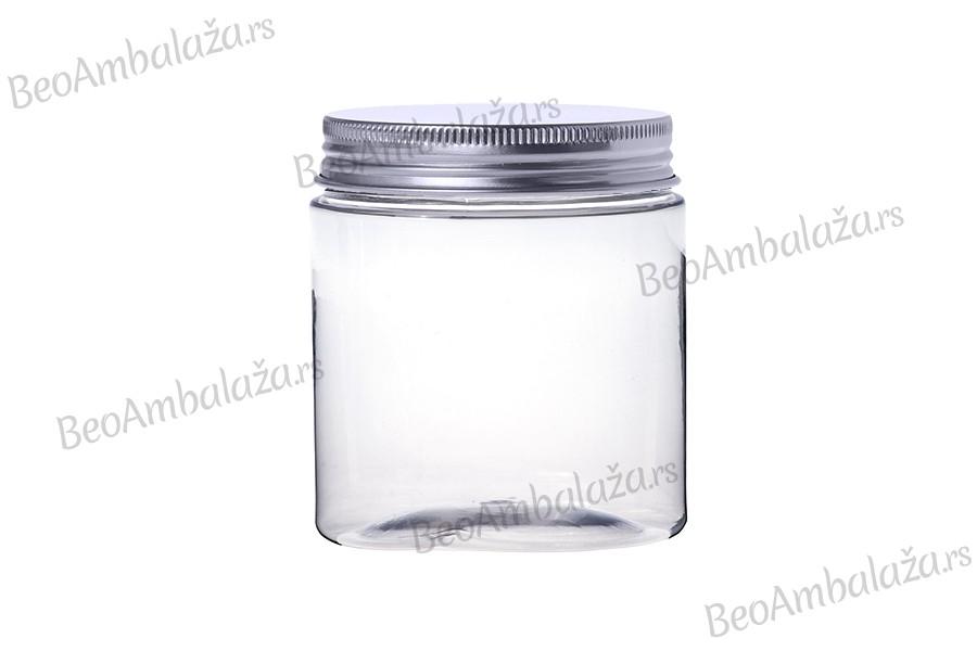 Providna PET tegla 500 ml sa srebrnim aluminijumskim poklopcem I međupoklopcem- 6kom
