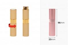 Staklena flašica 8ml sa sprejom za parfem u aluminijumskoj mat futroli