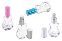 Sprej 10 ml za parfeme u obliku gitare sa zatvaračem sa srebrnom, plavom i roze štraftom.