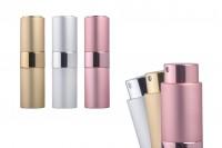 Staklena bočica 15ml sa sprejom za parfem u aluminijumskoj futroli u raznim MAT bojama