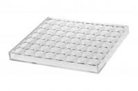 Pleksiglas štand 264x232x26mm- 56 mesta (prečnik otvora 27,5 mm)