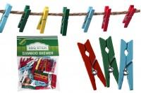 Drvene štipaljke 25mm u raznim bojama- 40kom