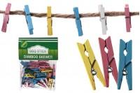 Drvene štipaljke 30mm u raznim bojama- 40kom