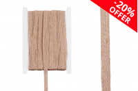 """Ukrasna """"gro"""" traka od lana u boji kanapa, širine 10 mm (1 kom.je 10 m)"""
