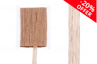 """Ukrasna """"gro"""" traka od lana u boji kanapa, širine 15 mm (1 kom.je 10 m)"""