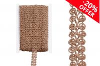 Ukrasna traka širine 20 mm, od lana u boji kanapa - 10m