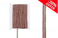 """Ukrasna """"gro"""" traka od lana dvobojna bež – smeđa, širina 7 mm (jedan komad je 10 Metara)"""