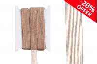"""Ukrasna """"gro"""" traka od lana u boji kanapa, širine 22 mm (1 kom.je 10 m)"""
