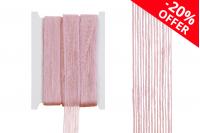 """Ukrasna  """"gro"""" traka od lana, roze, širine 25 mm (jedan komad je 10 metara)"""