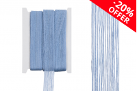 """Ukrasn """"gro"""" traka od lana , svetlo plave boje, širina 25mm, (1 komad je 10 m)"""