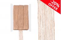 """Ukrasna """"gro"""" traka od lana u boji kanapa, širine 25 mm (1 kom.je 10 m)"""