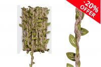 Ukrasna pletenica sa  vunicom od kanapa i sa zelenim listovima, širina 7mm (10 metara je jedan komad)