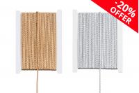 Ukrasni pleteni kanap na metalnom navoju, širina 3mm, (1 komad je10 metara)