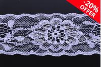 Најлонска чипка (жица) с сребрном металном навојем ширине 35 мм - 10 метара