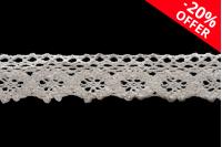 Усамљена памучна бамбусова чипка ширине 25 мм - 10 метара комада
