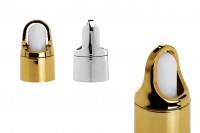 Aluminijumska kapica za pipete od 5 do 100ml sa belom gumicom