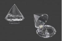 Plastična providna kutija u obliku dijamanta- 12kom