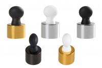 SET- aluminijumski prsten i gumica za pipetu za bočice sa grlom pp20