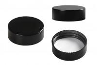 Crni plastični zatvarač sa unutrašnjom zaptivkom