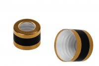Zlatni poklopac sa crnom linijom za kapaljke od 5 do 100ml