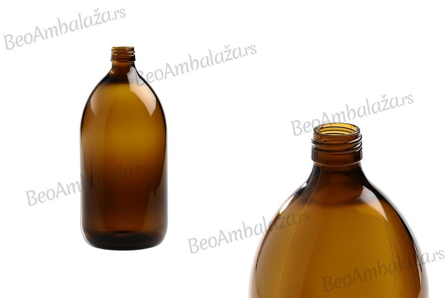 Farmaceutska flašica za parfeme i ulja,  staklena, smeđa, 1000 ml