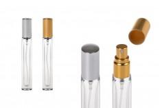 Staklena četvrtasta bočica 10ml za parfem sa rasprskivačem i poklopcem