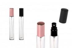 Staklena providna cilindrična bočica 10ml za parfem sa rasprskivačem i poklopcem u setu