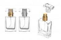 Staklena providna bočica za parfem 30ml sa sprejom i providnim poklopcem