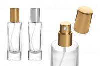 Staklena bočica 30ml za parfem, sa aluminijumski rasprskivašem i poklopcem