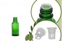Staklena zelena bočica 20ml za ulje