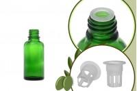 Staklena zelena bočica 30ml za ulje