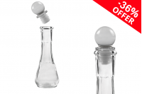 Akcija! Staklena providna flašica 50ml sa staklenim čepom!  Sa 226,27din na 144,81din po komadu (minimalna porudžbina 1 kutija)