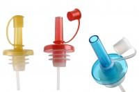 Plastični čep sa regultorom toka za maslinovo ulje koji odgovara svakom grlu mix colour